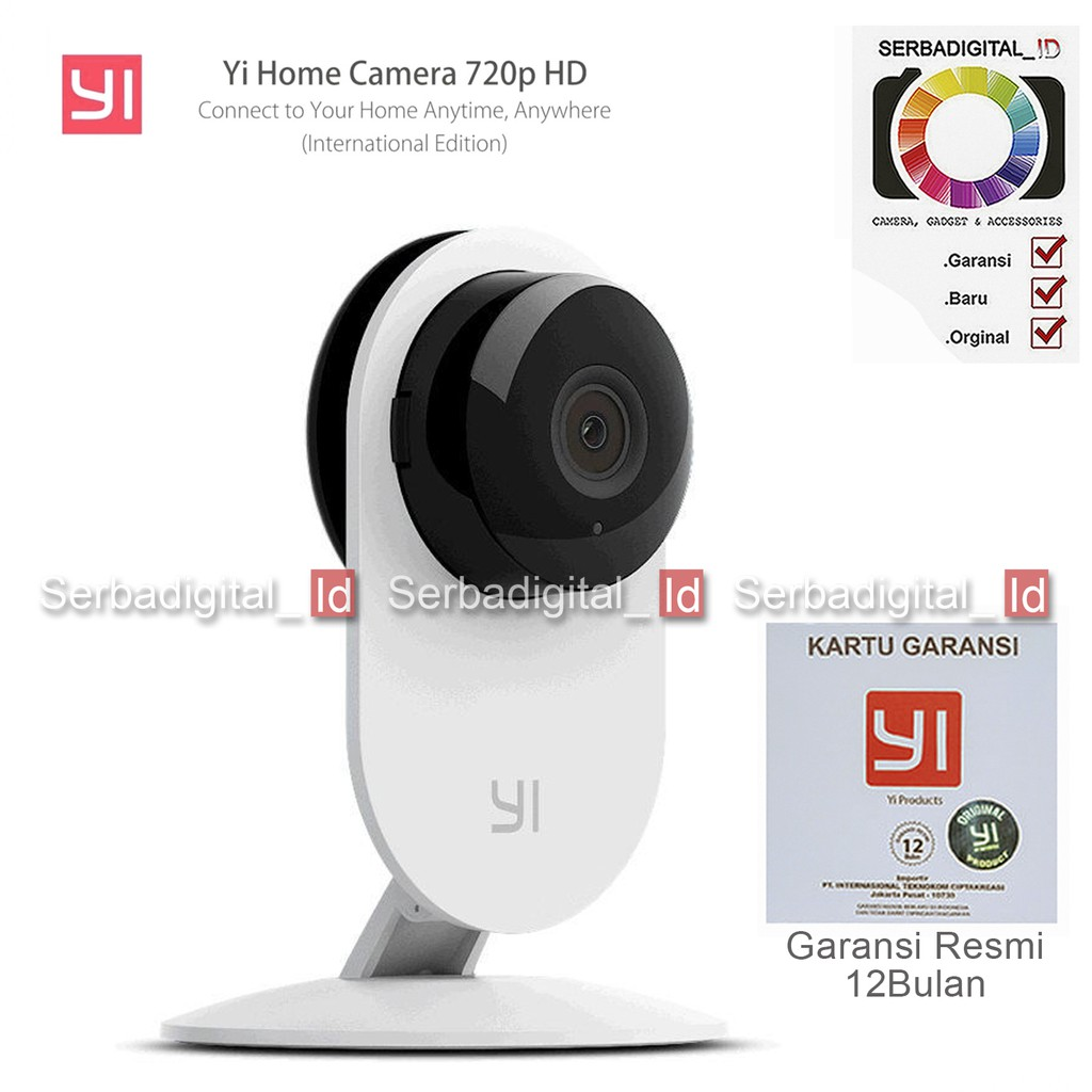 Xiaomi Yi Dome Cctv Ip Camera 1080p International Garansi Shopee Original 720p Version White Indonesia