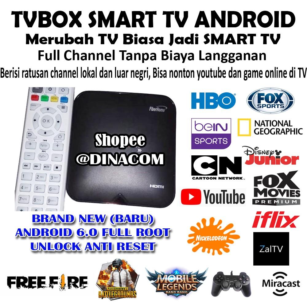 TVBOX STB ANDROIDTV INDIHOME FIBERHOME RAM 2GB HG680 P UNLOCK ROOTED
