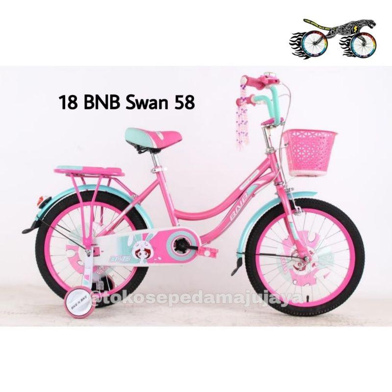 Sepeda Anak Perempuan Mini BNB 58 Swan Ukuran 18 Inch