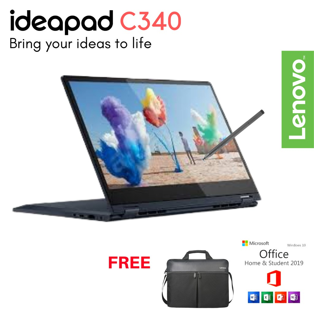 Lenovo Ideapad C340 14iml Ohs I3 10110u Win10 8gb 512 Ssd 14 Hd Touch Nvidia Mx230 2g Shopee Indonesia