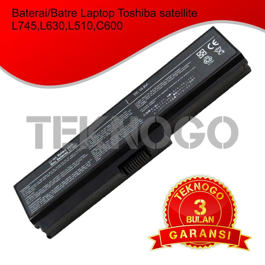 Baterai Laptop Original Toshiba C600 C640 L635 L640 L645 L735 L745 Keyboard Series Satellite C645 L655 L755 A665 Pa3817 Pa3634