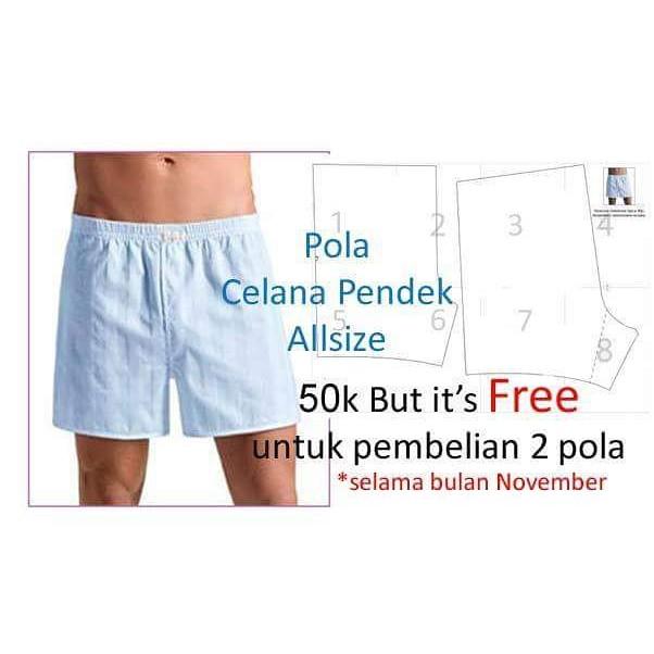 Pola Celana Pendek Pria  cccfd301b0