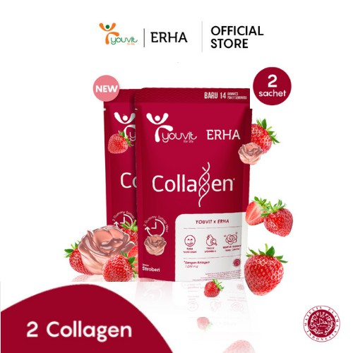 Youvit x Erha Collagen 2 Pouch isi 28 Gummies | Shopee Indonesia