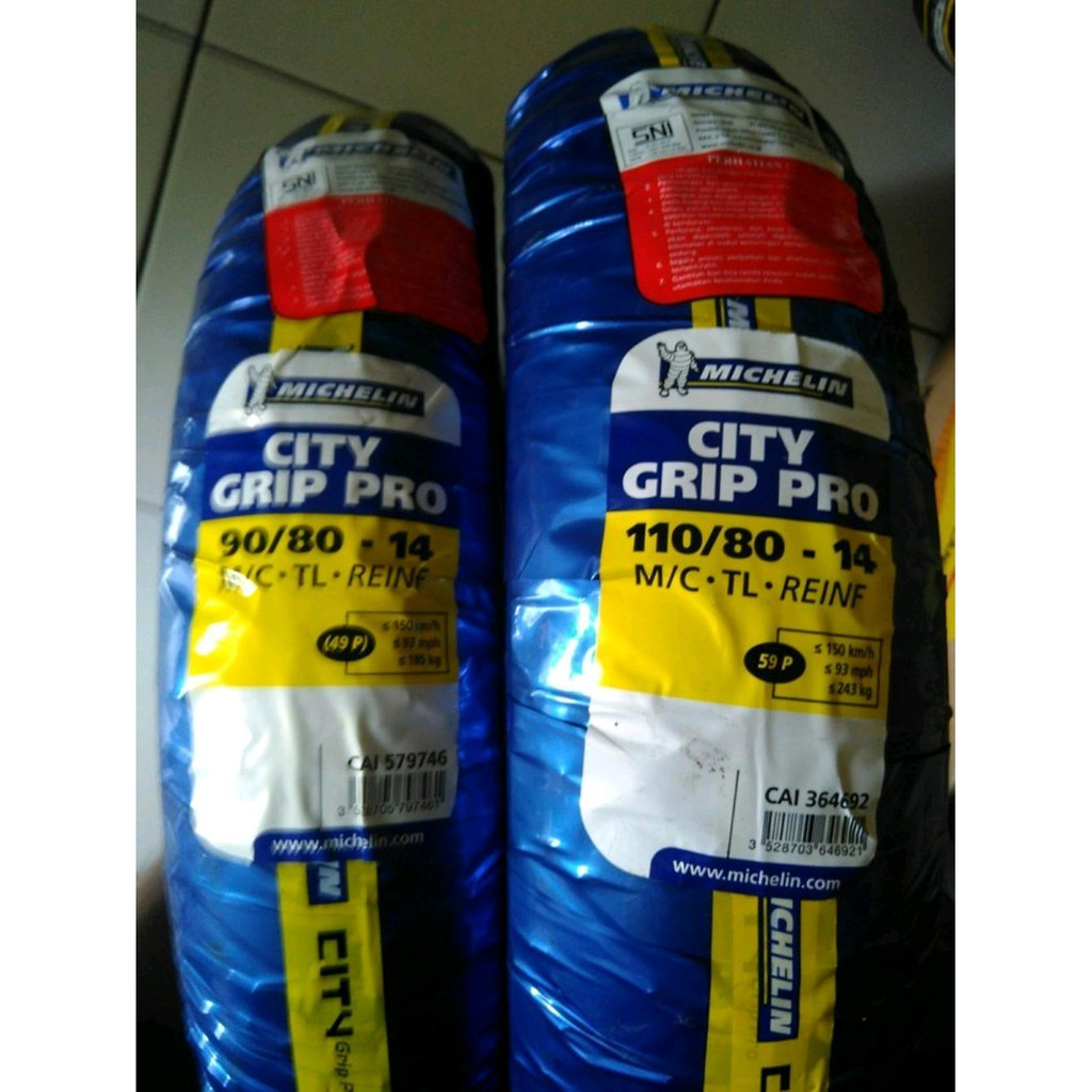 Dijual Paketan Ban 90 80 14 110 Michelin City Grip Pro Velg Tubeless Murah Shopee Indonesia