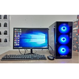 1 Set Pc Gaming /Design Core i7 ram 8gb vga 2Gb + monitor Led 19inc + mouse keyboar siap pakai ini