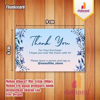 Thanks card Kartu Ucapan Terimakasih Olshop | Shopee Indonesia