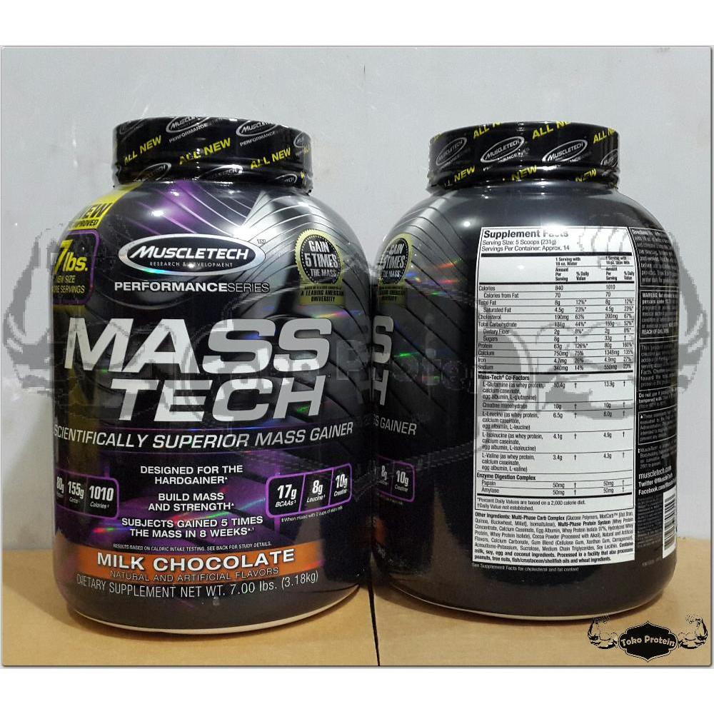 Mass Tech Chocolate 7lbs 7lb 7 Lb Lbs Masstech Muscletech Muscle Ph Prohybrid Gainer 2 Ecer Bpom Halal Penambah Bb Susu Protein Shopee Indonesia