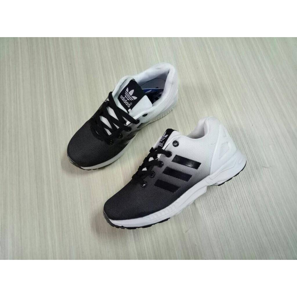 984f28746cf66 sepatu running adidas zx flux man cowok pria hitam putih import vietnam  40-44 free box adidas