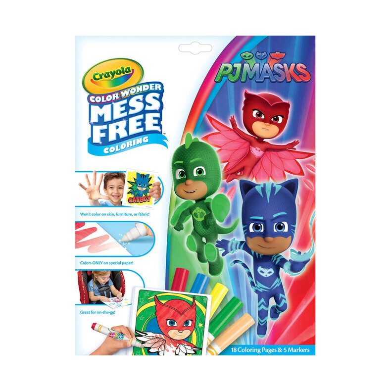 Crayola Color Wonder Mess Free Pj Masks Coloring Pages Markers Buku Warna Spidol Shopee Indonesia