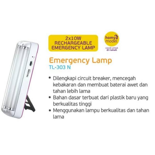 Lampu Emergency Tecstar With Fan TL-2377 LED. Source · Shopee .
