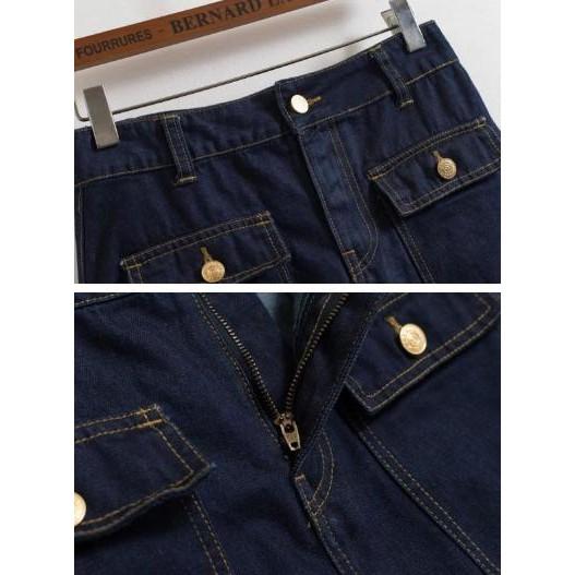 Rok Mini Span Denim Blue Jeans Skirt Baju Pakaian Wanita Import Murah | Shopee Indonesia