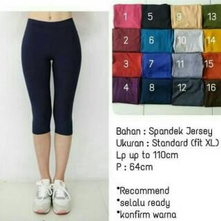 Celana Legging Pendek 3 4 Celamis Pendek Murah Daleman Gamis Shopee Indonesia