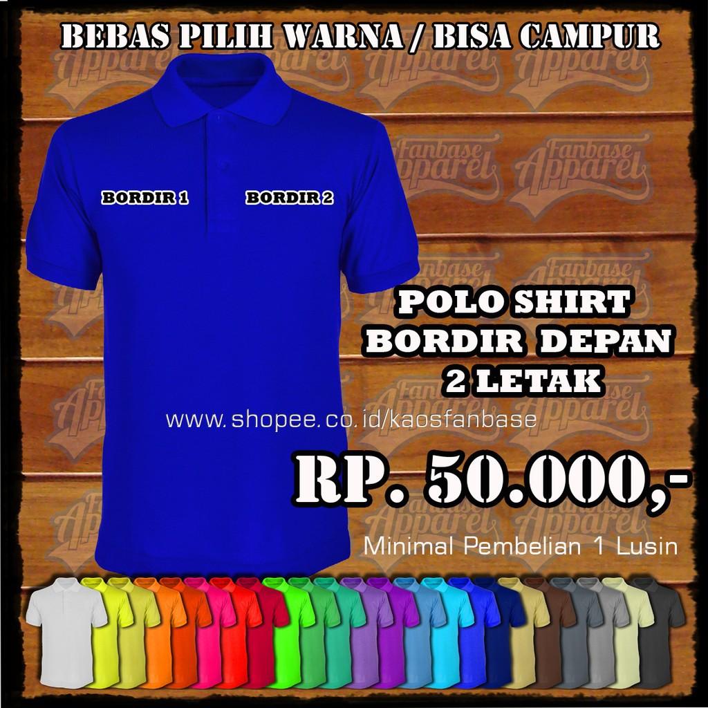 Paket 3pcs Polo Shirt Lakos 11 Warna S Xl Bisa Seragam Shopee Elfs Poloshirt Katun Biru Tua Indonesia