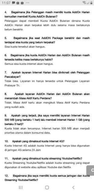 Termurah Paket Data Kuota Internet 3 Tri Three Aon 1 5gb 6gb Addon 12gb 38gb 10gb 15gb 24 Jam Shopee Indonesia