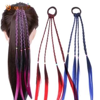 (Kid) Wig Rambut Palsu Model Kepang Elastis Untuk Anak Perempuan thumbnail