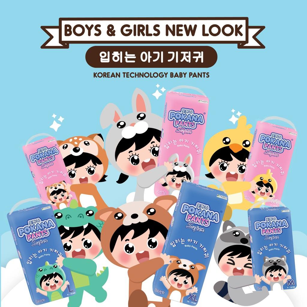 Pokana Super Pants Girls Boys Ukuran M32 L26 Xl 22 Heboh 3 Pack My Baby Minyak Telon Plus 90 Ml