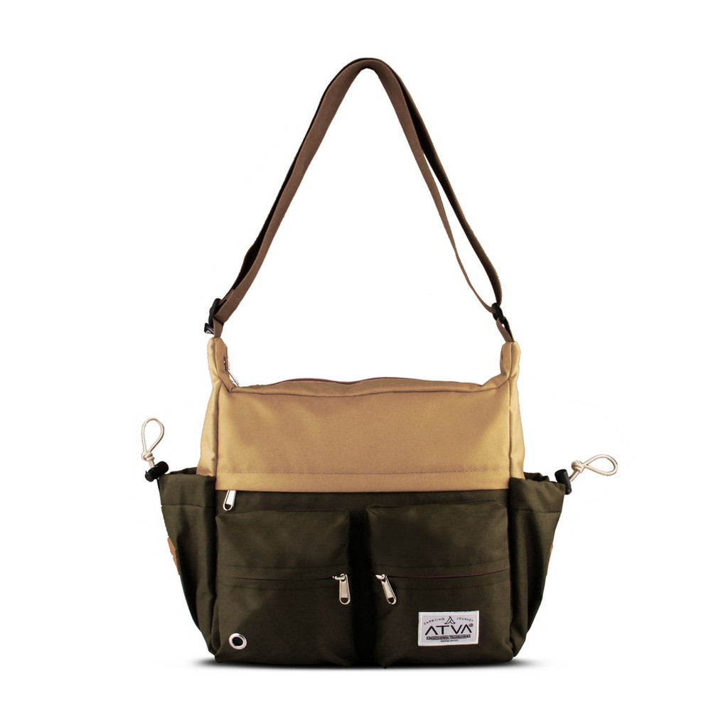 tas selempang pria – tas selempang wanita – Atva Bounce Series Khaki Olive
