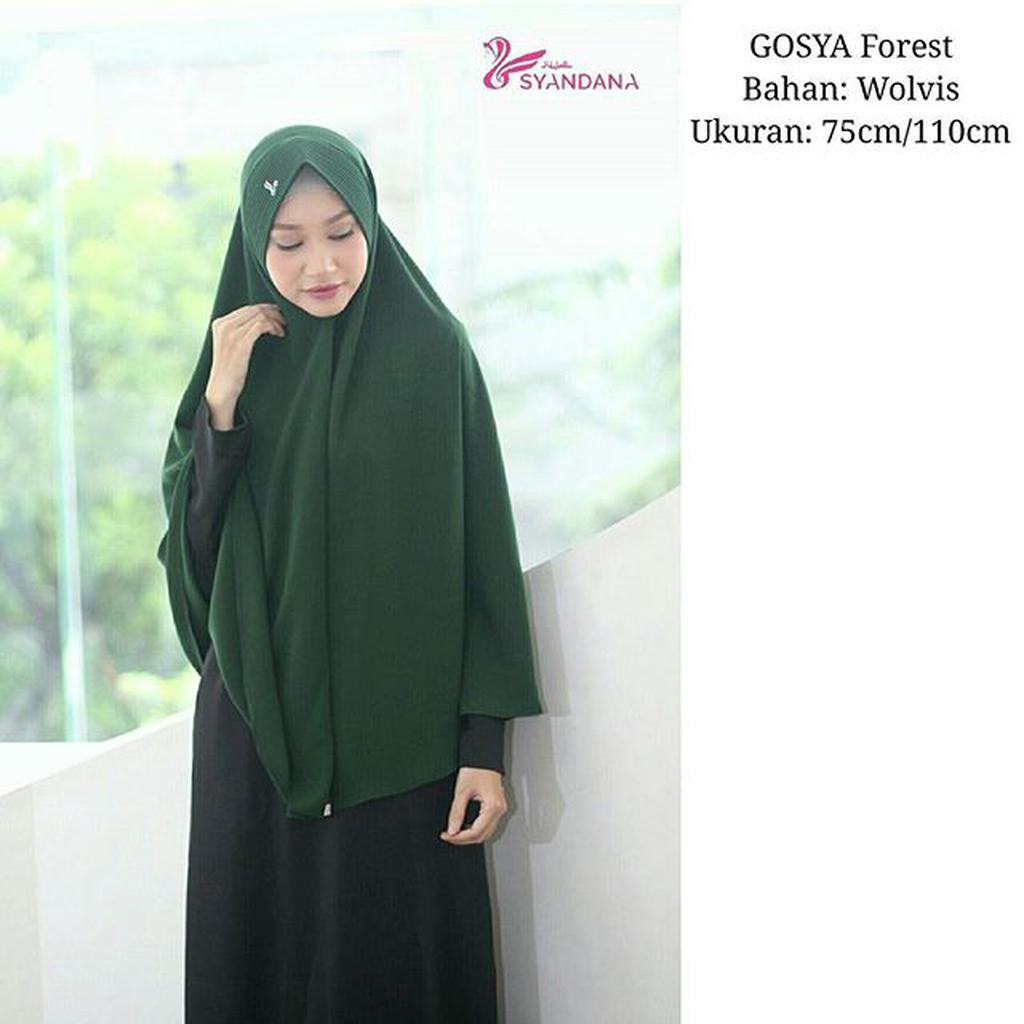 Hijab Khimar Bergo Gosya Hijau Botol By Hijab Syandana Shopee Indonesia