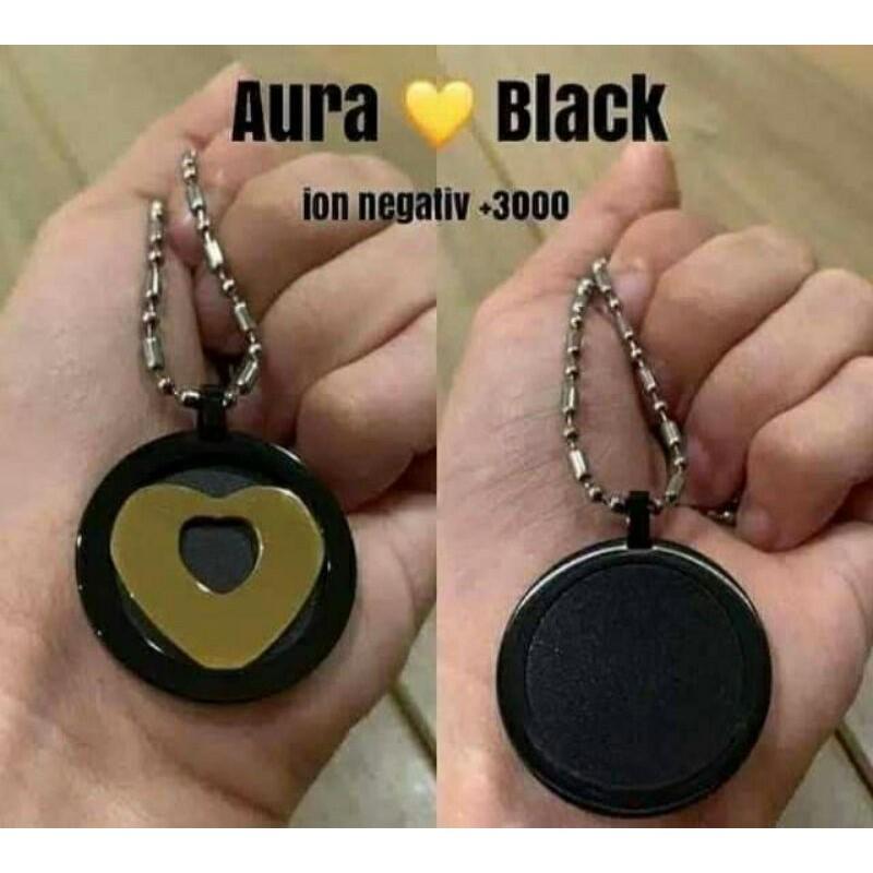 Kalung Kesehatan Aura Heart Black Gold MCI
