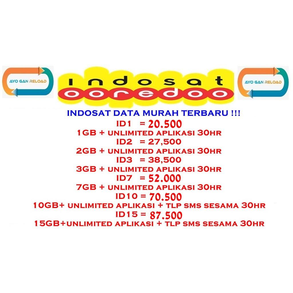 Kuota Paket Data Internet Indosat Murah Mini 2gb 3gb 4gb 5gb 7gb Voucher 2 Gb 10gb 15gb Freedom Combo M L Xl Xxl Shopee Indonesia