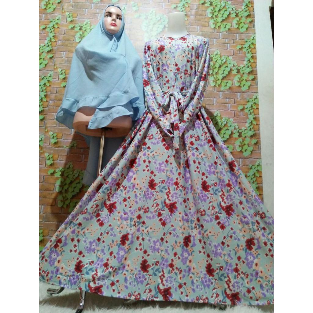 Gamis Batik Syari Modern Baju Muslim Pakaian Wanita Dress Shopee Fashion Trendy Kemeja Koko Pria Lebaran Kks 31 Indonesia