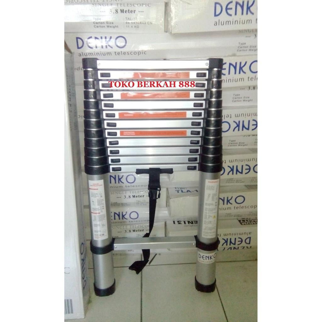 Malika Jaya Tangga Telescopik Merk Triples 38 Single Kwalitas Liveo Telescopic Ladder 38m Lv 202 Dalton Cocok Buat Cctv Pln Shopee Indonesia