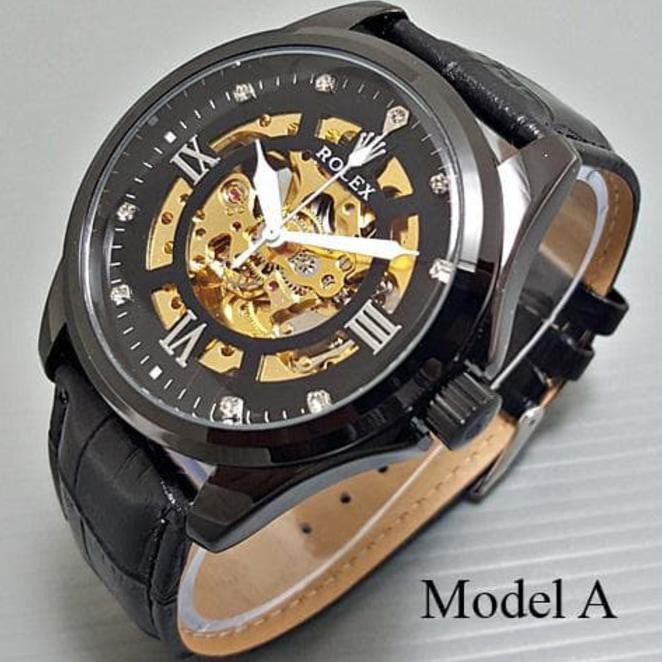 Jam Tangan Pria Rolex Classic Big Size Rantai Full Black Tanggal Chorono  Aktif Elegant Otomatis Lim  79b1e240d7