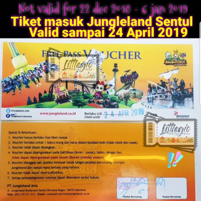 Voucher Jungle Land Sentul Jungleland