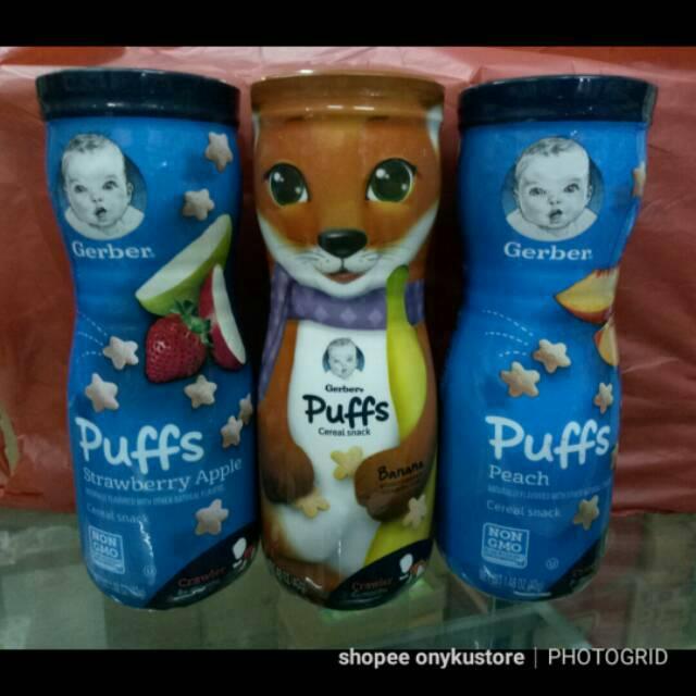 Gerber Puffs Cereal Snack Biskuit Makanan Bayi Dimulai Untuk Bayi