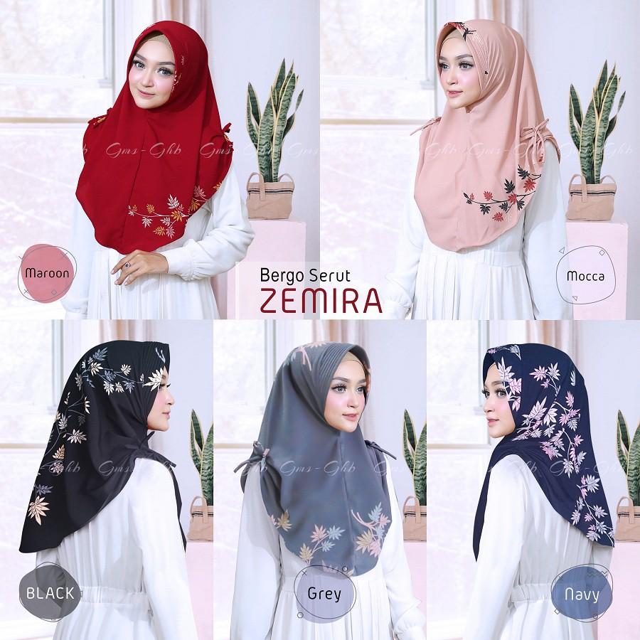Hijab Bergo Serut Zemira Shopee Indonesia