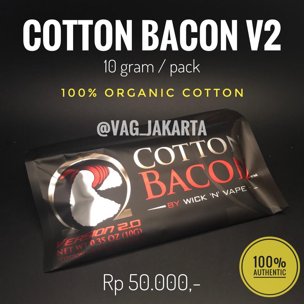 Cotton Bacon V 20 Authentic Premium Shopee Indonesia V2 By Wick N Vape Kapas Coton Best Seller