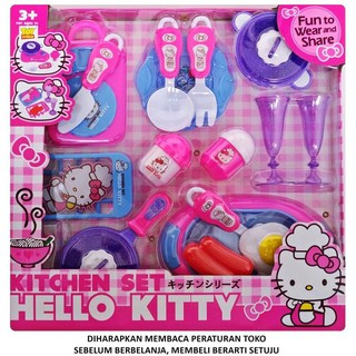 Murah Meriah Kak >>>> Mainan Anak Kitchen Set Hello Kitty Panci Teflon Alat Dapur Masak | Shopee Indonesia