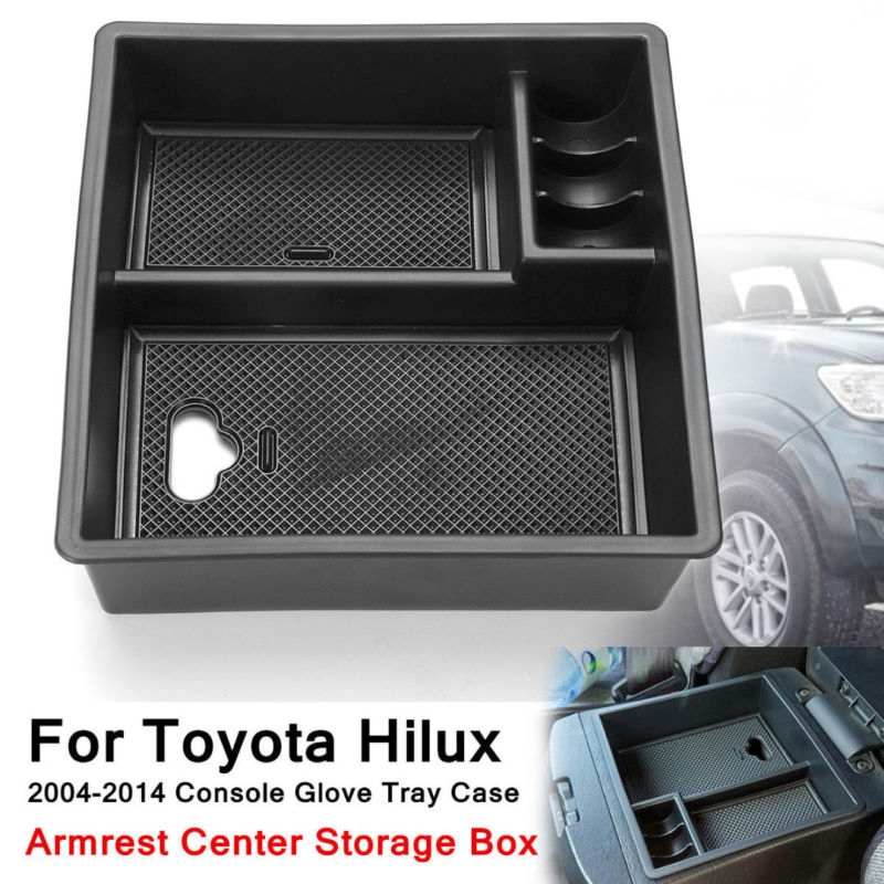 Tray Armrest Center Storage Box For Toyota Hilux 2004-2014 Interior Accessories Car-styling car Armrest Center Storage Boxes Storage