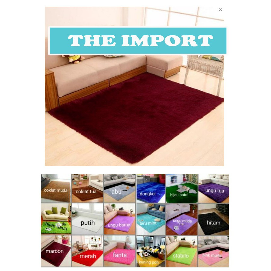Dapatkan Harga Karpet Rasfur Diskon Shopee Indonesia Matras Bulu Busa Uk 200x150x3cm