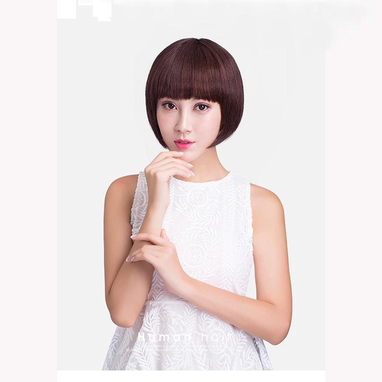 2020 Wig Rambut Palsu Bob Pendek Lurus Gaya Brazil Untuk Wanita Paruh Baya Shopee Indonesia
