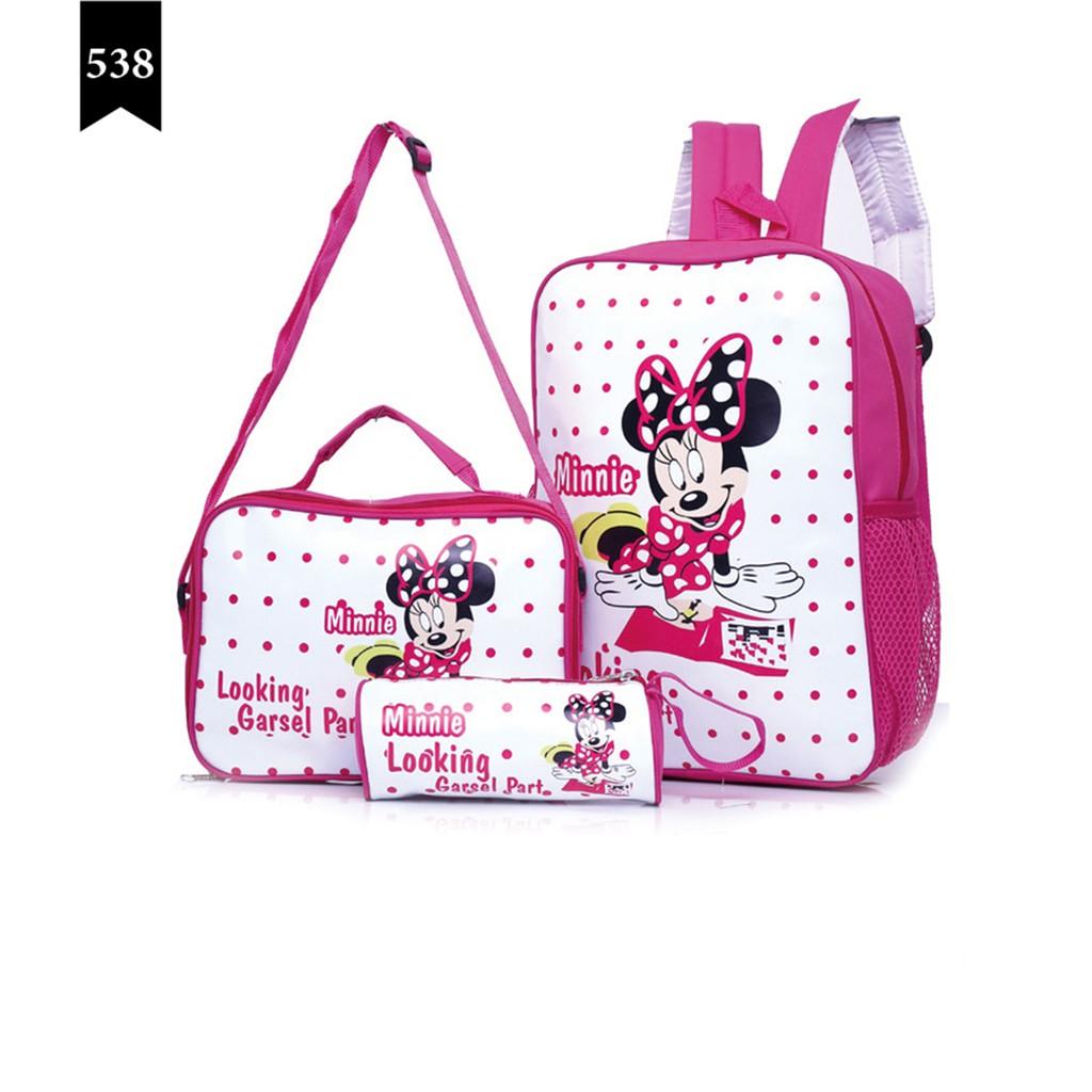 New Garsel fashion FDC 5851 Tas ransel anak perempuan Tas sekolah | Shopee Indonesia