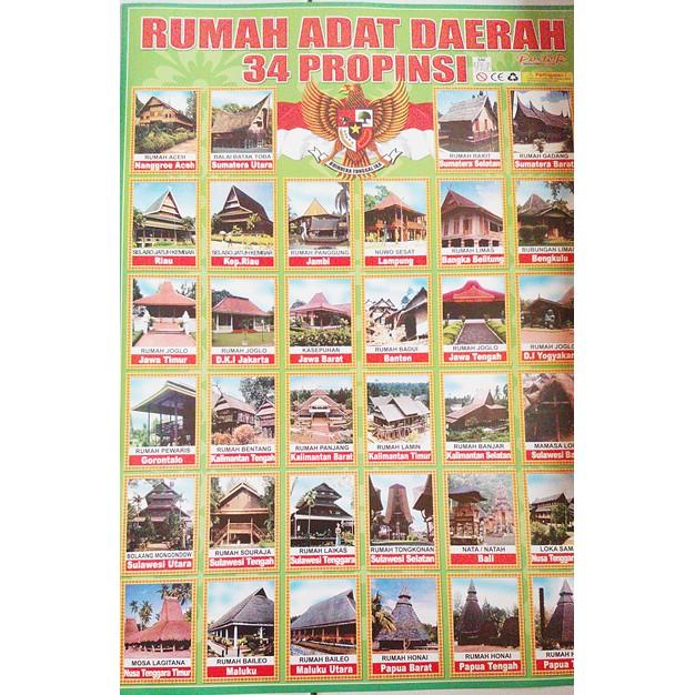 Poster Rumah Adat Indonesia Shopee Indonesia