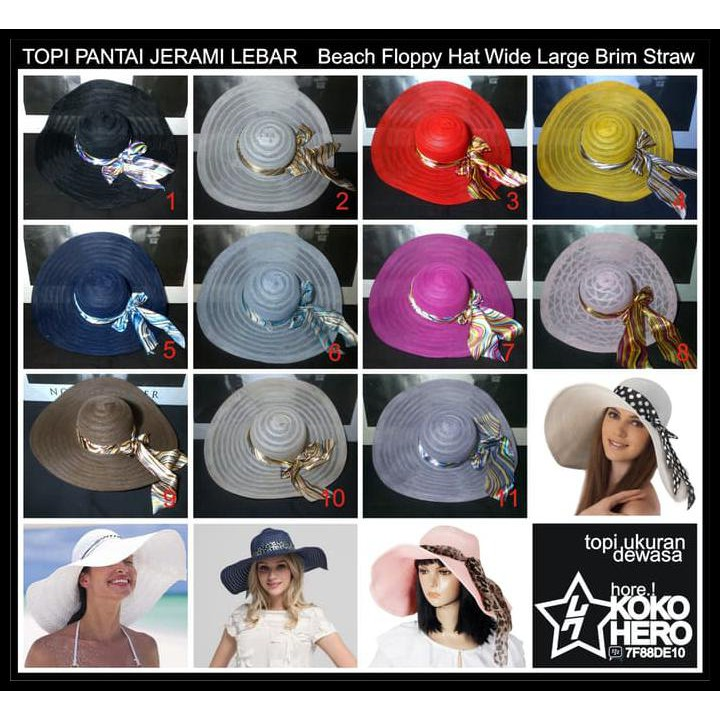 topi pantai - Temukan Harga dan Penawaran Online Terbaik - Aksesoris  Fashion Februari 2019  b38e0ec728