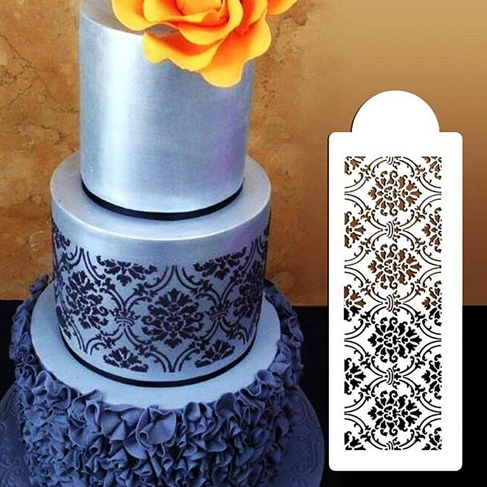 Silicone Border Lace Fondant Mould Cake Decoration Baking Sugarcraft Icing Clay