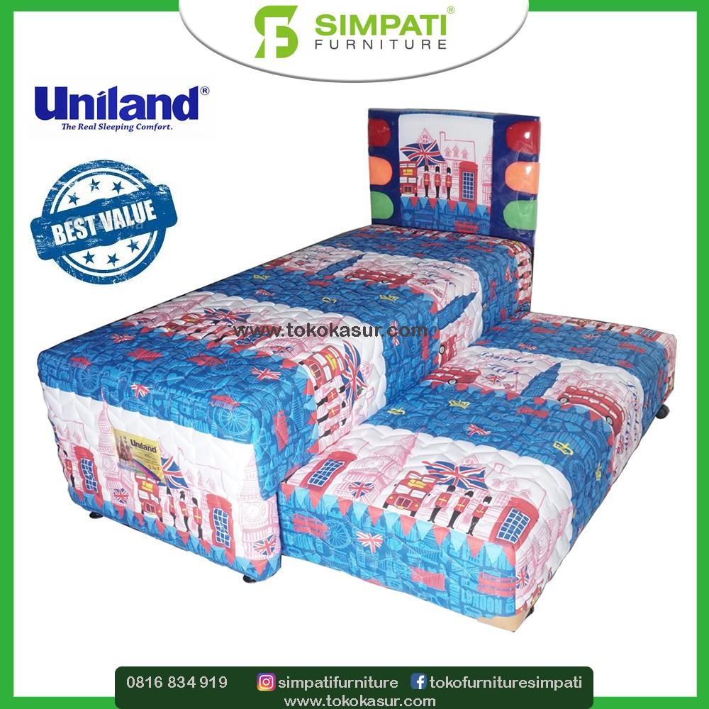 Uniland Paradise Sandaran Chysant Biru Uk 90x200 Shopee Indonesia Kasur Box Magnolia 180x200 Tanpa Divan