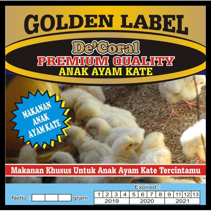 Pakan Anak Ayam Kate Golden Label Makanan Anak Ayam Kate Golden