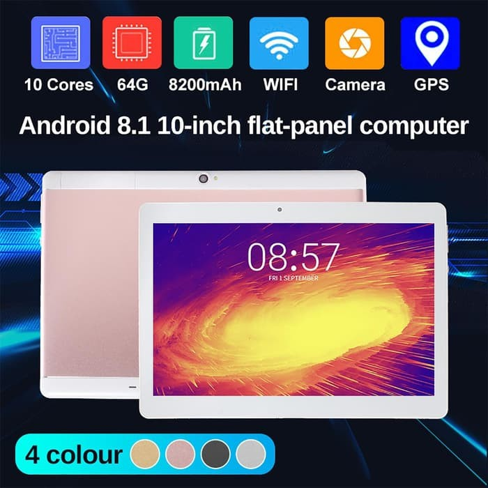 Tab 1851 l WL 10.1'' Tablet PC Android 8.0 Octa Core 4G 64GB 10 Inch HD WIFI 2 SI Tablet