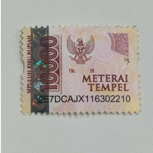 Materai Tempel 6000 Asli / 10000 Asli