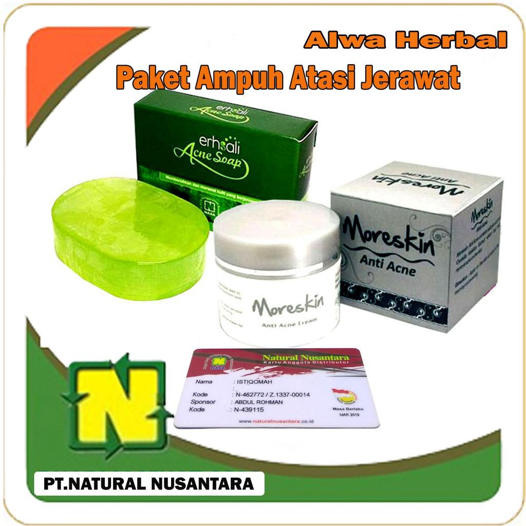 PAKET JERAWAT | MORESKIN ANTI ACNE DAN ERHSALI ACNE SOAP NASA | ORIGINAL 100% | Shopee Indonesia