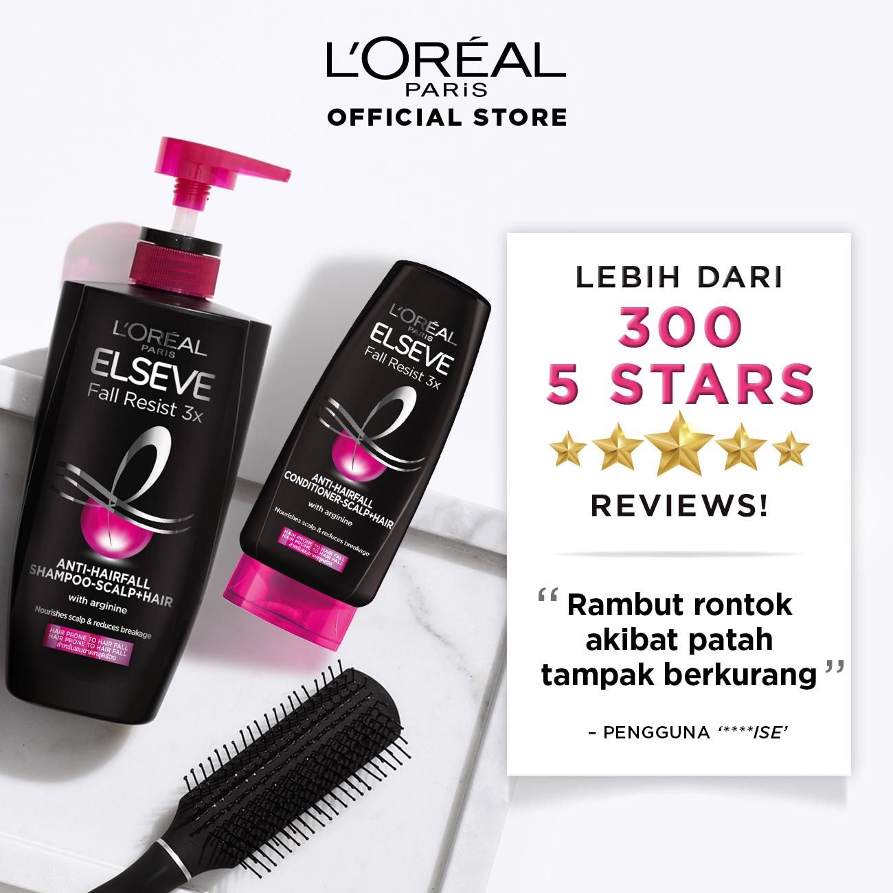 L'Oreal Paris Fall Resist 3x Shampoo Hair Care - 280ml (Perawatan Untuk Rambut Mudah Rontok)-7