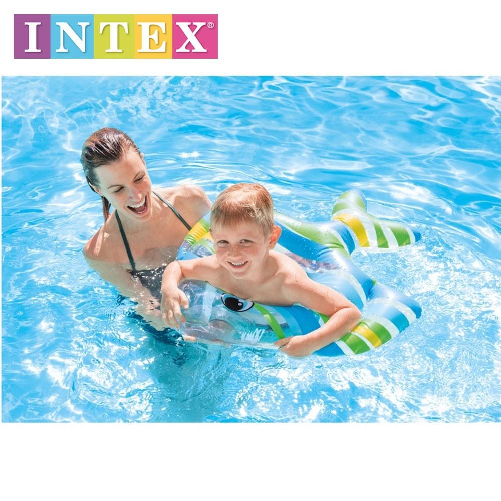 Pelampung Intex Daftar Harga November 2018 My Baby Float 59574 Ban Renang Anak Air Fish Swim Rings