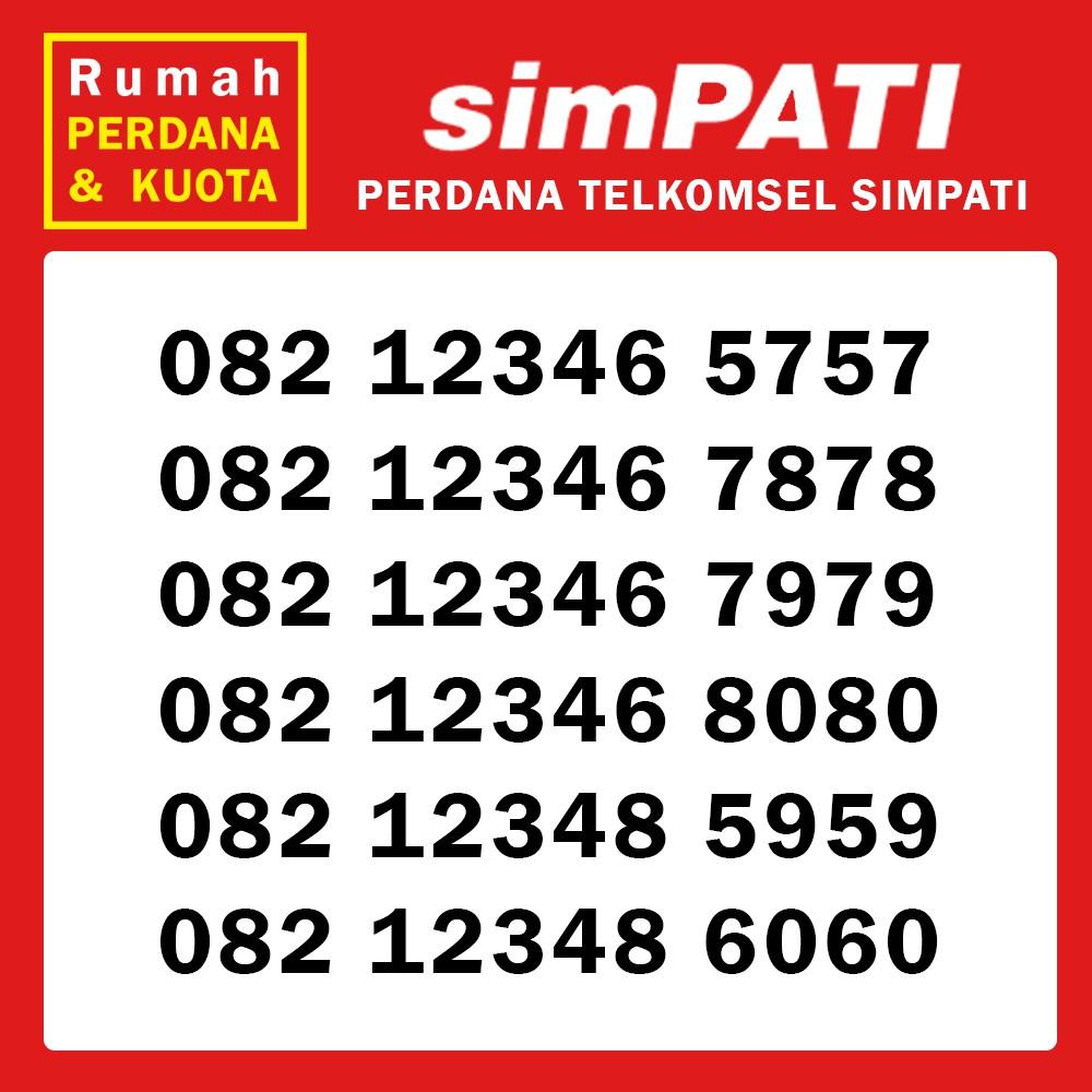 Perdana Nomor Cantik Telkomsel Simpati urut naik triple 082 123467776 | Shopee Indonesia