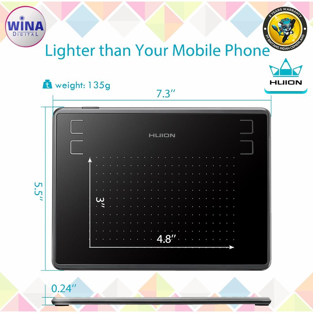 Pen Tablet Drawing HUION H430P Garansi Resmi