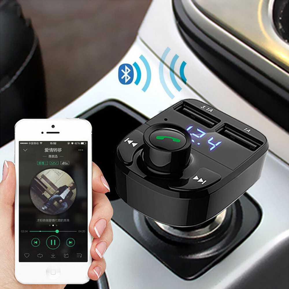 Usb Wireless Bluetooth Car Charger Untuk Di Mobil Fm Transmitter Dgn Sd Card Slot Free Aux Kabel Mp3 Transmiter Modulator Shopee Indonesia