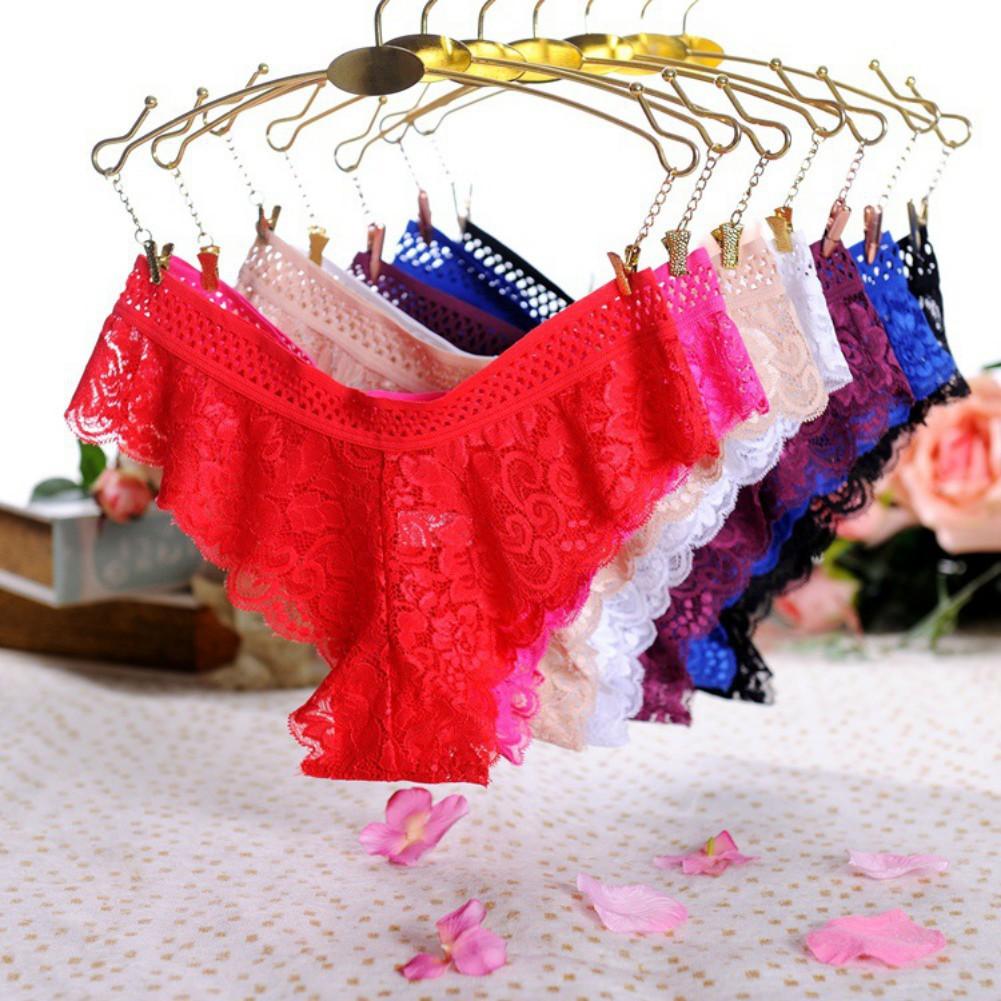 Women Lace Thong Seamless Transparent Panties  8b86dbfbc9